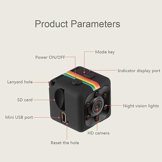 per Esterno//Interno Full HD 1080P Portatile Micro Spy Cam Sorveglianza con Visione Notturna,Sensore di Movimento y Batteria YOJINKE Mini Telecamera Spia Nascosta