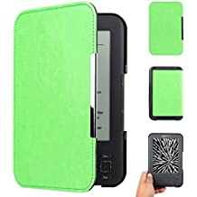 "WALNEW Amazon Kindle Keyboard (kindle 3/D00901) Case Cover -- Ultra Lightweight PU Leather Smartshell Cover for Amazon kindle Keyboard(3rd Generation)Tablet with 6"" Display and Keyboard ,Green"