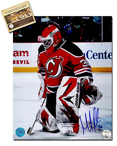 Martin Brodeur Autographed Signed 8x10 Hockey Photo Memorabilia Certified with WCA Dual Authentication Holograms and COA