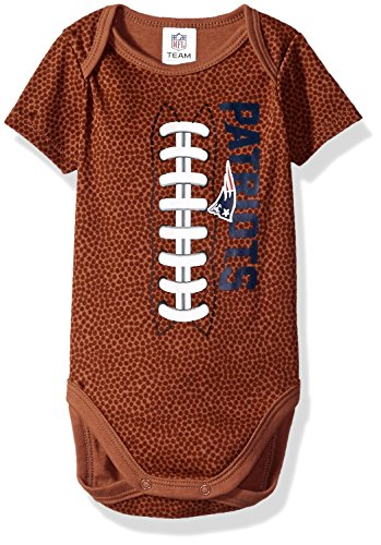 iots Boys Football Bodysuit, 3-6 Months, Brown (New England Patriots Infant)