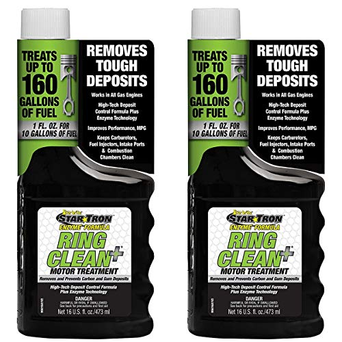 2 Pack Star Tron Ring Clean + Deposit Control Fuel Additive Enzyme Technology 16oz
