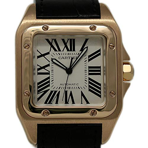 - Cartier Santos 100 Swiss-Automatic Male Watch W20095Y1 (Certified Pre-Owned)