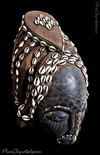 (African Art-Tribal Art / Kuba Ngaady Mwaash Mask Portrait/ Ethnographic Series/ Fine Art Photo Print)