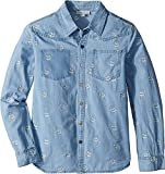 Stella McCartney Kids Baby Girl's Melvil Skull Embroidered Chambray Shirt (Toddler/Little Kids/Big Kids) Blue 4T