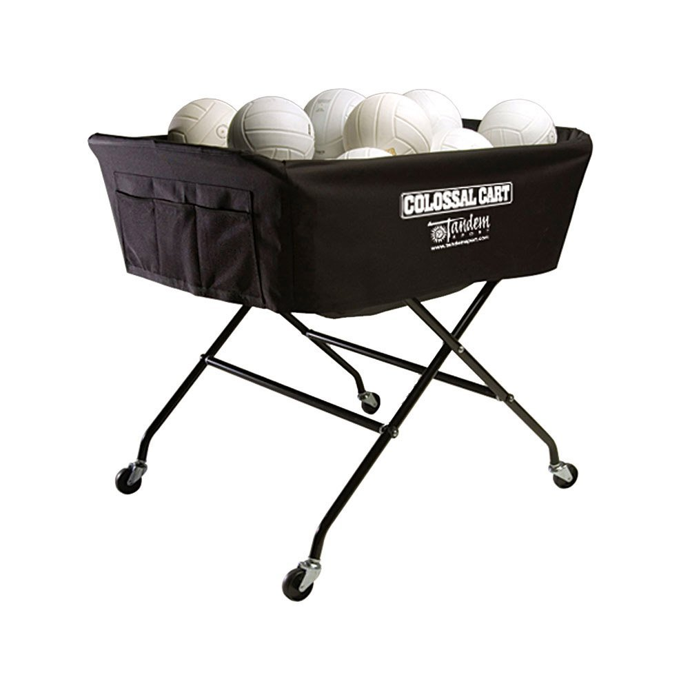 Tandem Sport Colossal Volleyball Ball Cart - Hold Up To 40 Balls TSCOLOSSALCA