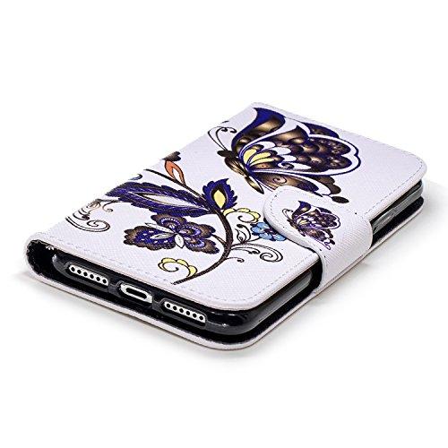 Homme XS pour Etui XS iPhone Coque de Etui Housse Portefeuille iPhone en à Herbests X Rabat iPhone iPhone Cuir iPhone XS Motif iPhone Fille X 1 Femme Papillon pour Port Protection X Protection de avec Étui Coque 7q4xf1x