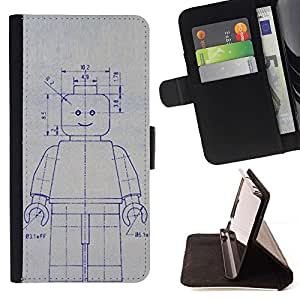 Momo Phone Case / Flip Funda de Cuero Case Cover - Robot de la máquina de dibujo Sketch Ai Arte Futuro - Sony Xperia Z5 Compact Z5 Mini (Not for Normal Z5)