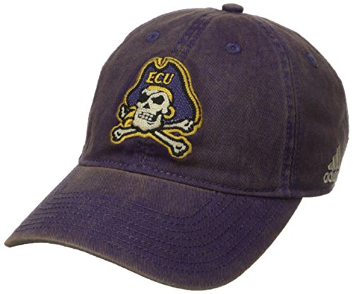 NCAA East Carolina Pirates Men's Adjustable Slouch, Purple, One Size