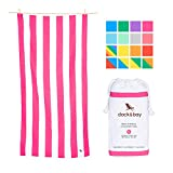 Dock & Bay Quick Dry towel for Beach - Pink, Extra Large 78x35 - sand proof beach mat, fast drying towels