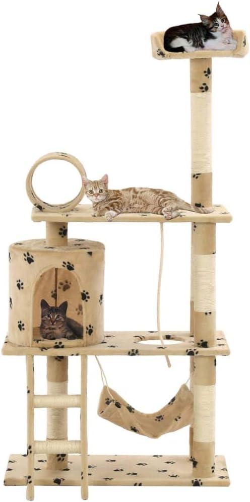 Festnight Árbol para Gatos Rascador con una Hamaca, una Escalera ...