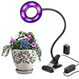 LED Grow Lights,10W Adjustable 6 Level Desk Plant Lamp with 360° Flexible Gooseneck Arms and Spring Clamp for Indoor Plants Hydroponic Greenhouse Gardening Plant Review