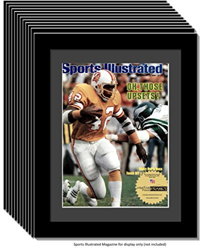 1984 Collectors - CreativePF [12pk1114bk-b] Collectors Edition Sports Illustrated Frame, Displays 1981-1990 Magazines Measuring 8 by 10 3/4-inches w/Black Mat-MEASURE YOUR MAGAZINE (12-Pack)