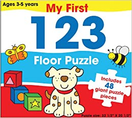 My First 123 Floor Puzzle Includes 48 Giant Puzzle Pieces My