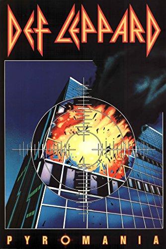 Def Leppard Pyromania Music Poster