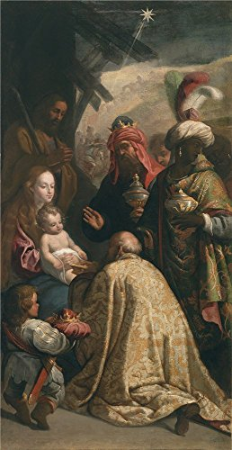 'Cajes Eugenio La Adoracion De Los Reyes Magos 17 Century ' Oil Painting, 8 X 16 Inch / 20 X 39 Cm ,printed On High Quality Polyster Canvas ,this Amazing Art Decorative Canvas Prints Is Perfectly Suitalbe For Hallway Decor And Home Decor And Gifts