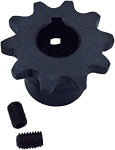 KOVPT # 35 Roller Chain Plate Sprocket 23 Teeth 1//2 Bore Pith 3//8 Carbon Steel Black 1PCS