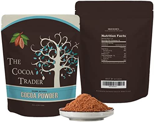 Dutch Processed Brown Cocoa Powder - All Natural Alkalized Unsweetened Cocoa with Smooth Mellow Flavor - Use in Baked Goods, Coffee, Smoothies, and Shakes - 1 LB The Cocoa Trader