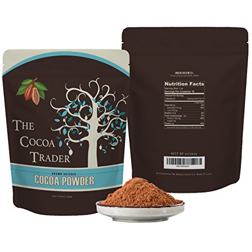 Red Cocoa (Dutch Processed Brown Cocoa Powder - All Natural Alkalized Unsweetened Cocoa with Smooth Mellow Flavor - Use in Baked Goods, Coffee, Smoothies, and Shakes - 1 LB The Cocoa Trader)