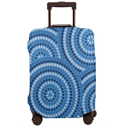 Travel Luggage Cover,Abstract Aboriginal Ethnic Indigenous Australian Mosaic Style Dots Boho Artwork Suitcase Protector