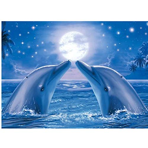 - Handmade Counted Cross Stitch Kits Dolphin Lovers Embroidery Pattern DMC Cotton Thread Home Room Decor (Dolphin Lovers)