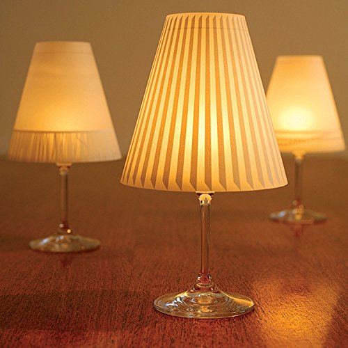 Gorgeous Helen · 3 Enchanting Lampshades for Wine Glasses with Tea Lights