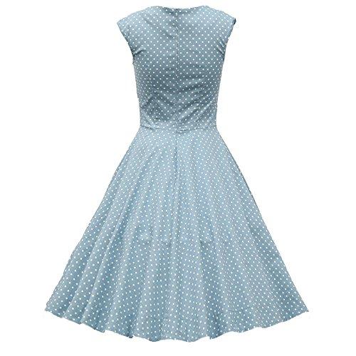 IMUYI Frauen der 1950er Jahre Retro Vintage Cap Hülsen Partei Swing ...