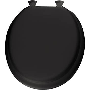 wooden black toilet seat. Mayfair 13EC 047 Soft Toilet Seat with Molded Wood Core and Easy Clean  Change