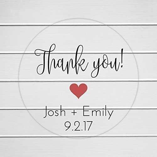 Thank you stickers clear transparent wedding favor labels wedding favor stickers 196