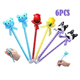 Sinofun 6 Pack Cute Pen Squishy Set(Bear/Dog/Rose Flower), Scented Topper Animal Squishies, Slow...