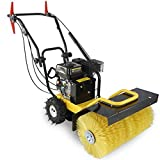 24'' Walk Behind Sweeper Self Propelled Power Brush Broom Industrial Gas Engine