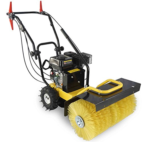 24'' Walk Behind Sweeper Self Propelled Power Brush Broom Industrial Gas Engine by Titan Attachments