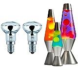2x 30W R39 Dimmable Clear Reflector Spot Lights / Lava Lamp Bulbs SES E14 240v