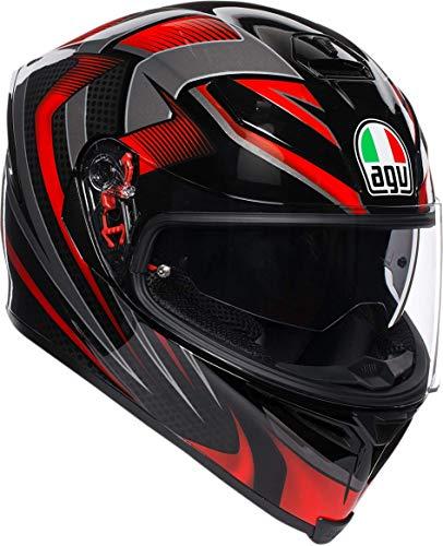 AGV Unisex-Adult Full Face K-5S Hurricane 2.0 Motorcycle Helmet Red Medium/Small ()