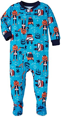 Carter's Boys' Graphic Footie 323g016, Pirate Monster, 24 Months