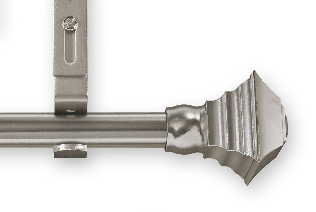Unique Adjustable Curtain rods 28-Inch to 50-Inch Pewter Square Style