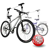 Sporting Goods : RAD Cycle Products Bike Lift Hoist Garage Mountain Bicycle Hoist 100LB Capacity (2-Pack)