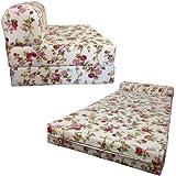 Amazon Com Denim Sleeper Chair Folding Foam Bed Sized 6