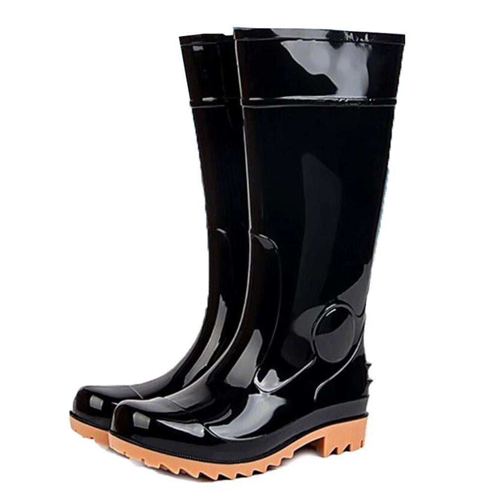 SISHUINIANHUA Regenschutzstiefel der Männer waschende Hohe Stiefel der Autowäsche Sehnenunterseitenschuhe