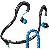 X-1 (Powered by H2O Audio) IEN2-BK-X Surge Sportwrap Waterproof In-Ear Headphones (Black/Blue)