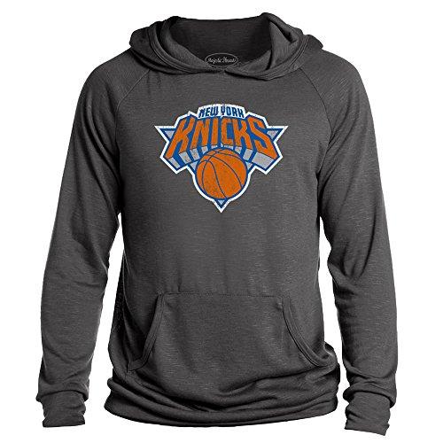NBA New York Knicks Men's Premium Hacci Slub Pullover Hoodie, Large, Granite (The New York Knicks)