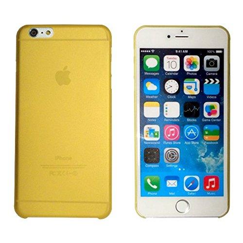 smartec24® iPhone 6 PLUS TPU SmartCover Case in gelb mit Softgrip Oberfläche inkl. 1x Displayschutzfolie. 100% passgenauer kantenumgreifender Schutz