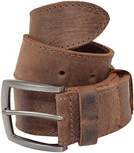 Thick Leather Belt With Hidden Pocket Handmade by Hide & Drink Includes 101 Year Warranty :: Bourbon Brown