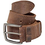 Thick Leather Belt With Hidden Pocket Handmade by Hide & Drink :: Bourbon Brown (Size 34)