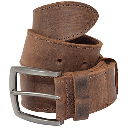 Thick Leather Belt With Hidden Pocket Handmade by Hide & Drink :: Bourbon Brown (Size 38) ()