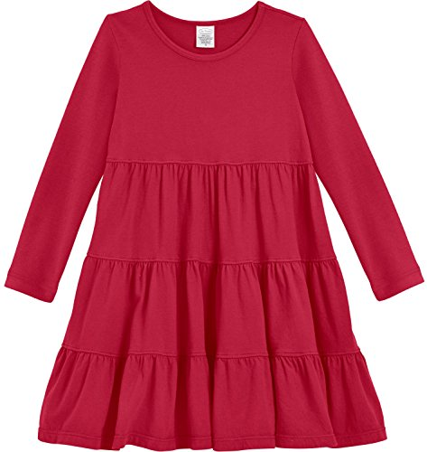 Red Tiered Dress - 3