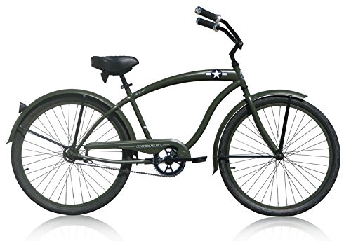 (Micargi Bicycle Industries The General Single Speed Ride On, Army Green)