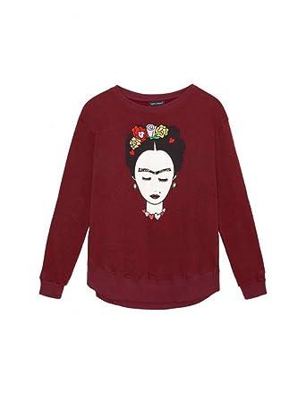 KEEP & TRENDY Sudadera Mujer Granate Frida ...