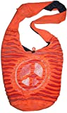 SJ 02 Circular Peace Shoulder Bag Bohemian Gypsy Bag (Orange)