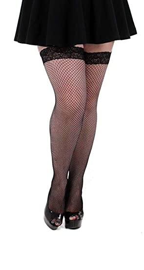 51320157a74 Plus Size Luxury Lace Hold Ups