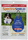 Dog Flea Treatment Collar - SPECTRA SHIELD ★ EASY SNAP ON DOG FLEA TICK 4 MONTH CONTROL ★ MEDALLION ATTCHES TO COLLAR ★ ALL SIZES (Medium - 30-55 lbs)